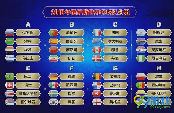 2018俄罗斯世界杯赛程表一览 2018俄罗斯世界杯比赛时间一览